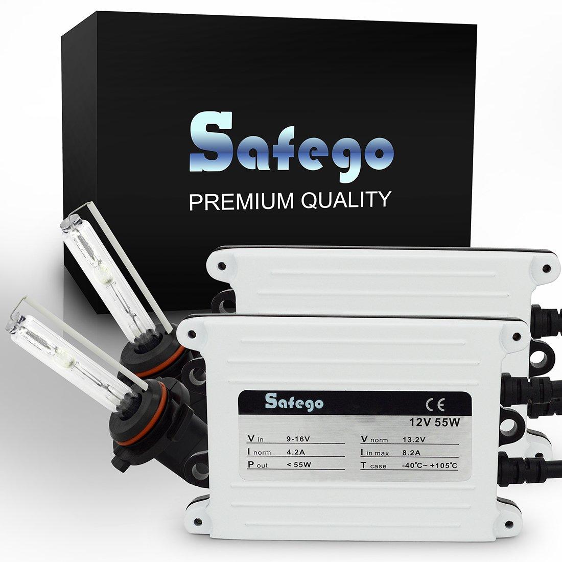Safego 55W HB4 9006 Retrofit Conversion Kit FARI XENO XENON HID KIT LUCI di Conversione HID accessori Super luminosa 6000K Bianco Auto Xenon HID Light - Lampada HID Xenon Luce Per Auto