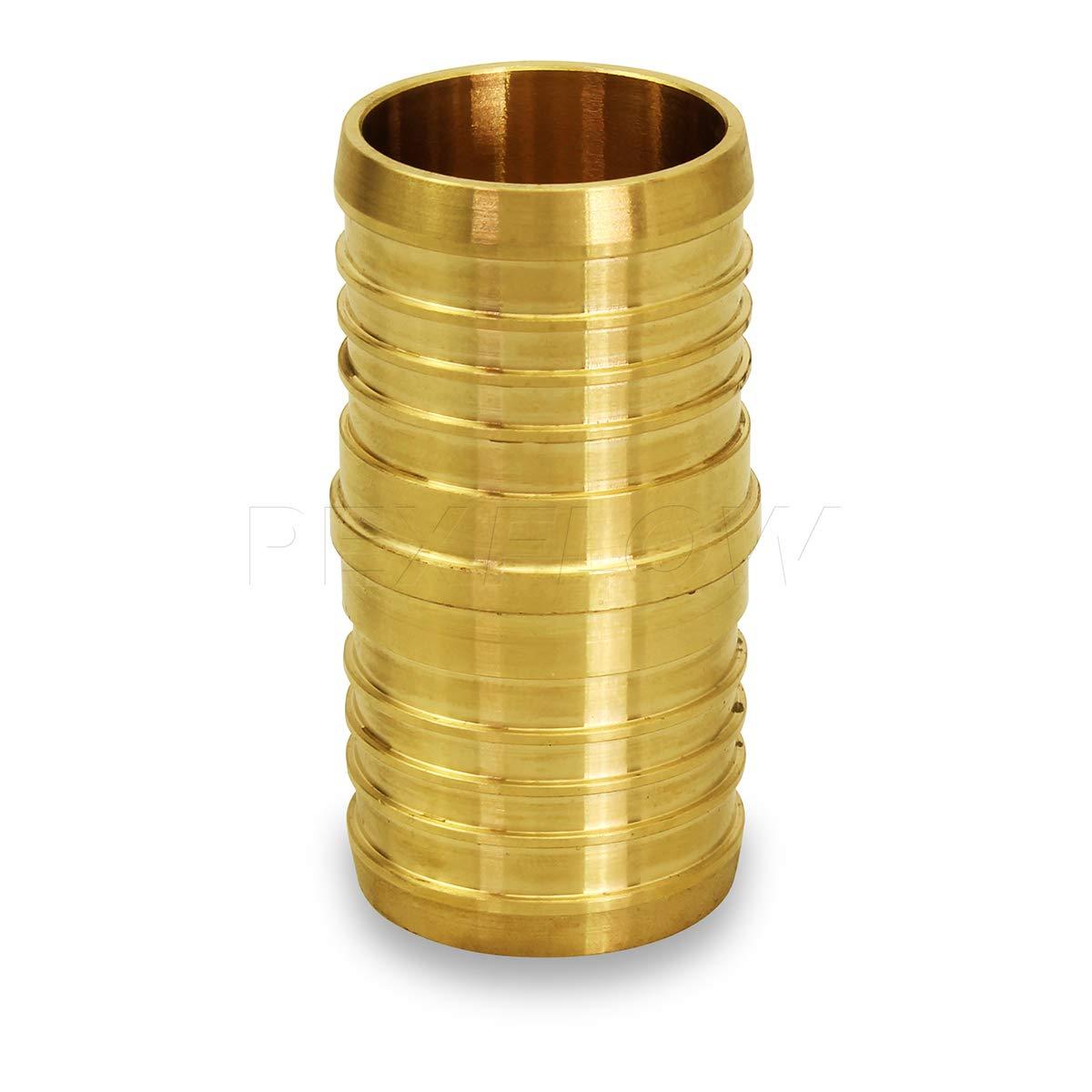 Brass 3//8 Pexflow EPCP0038-NL PEX X PEX Straight Coupling Barb Pipe Fitting