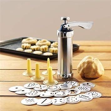 Airymap Machine /à Biscuits Biscuit Presse Set Cookie Maker Machine Kit 20 Disques 4 Embouts de gla/çage Spritz p/âte Outils de Fabrication de Biscuits Rouge