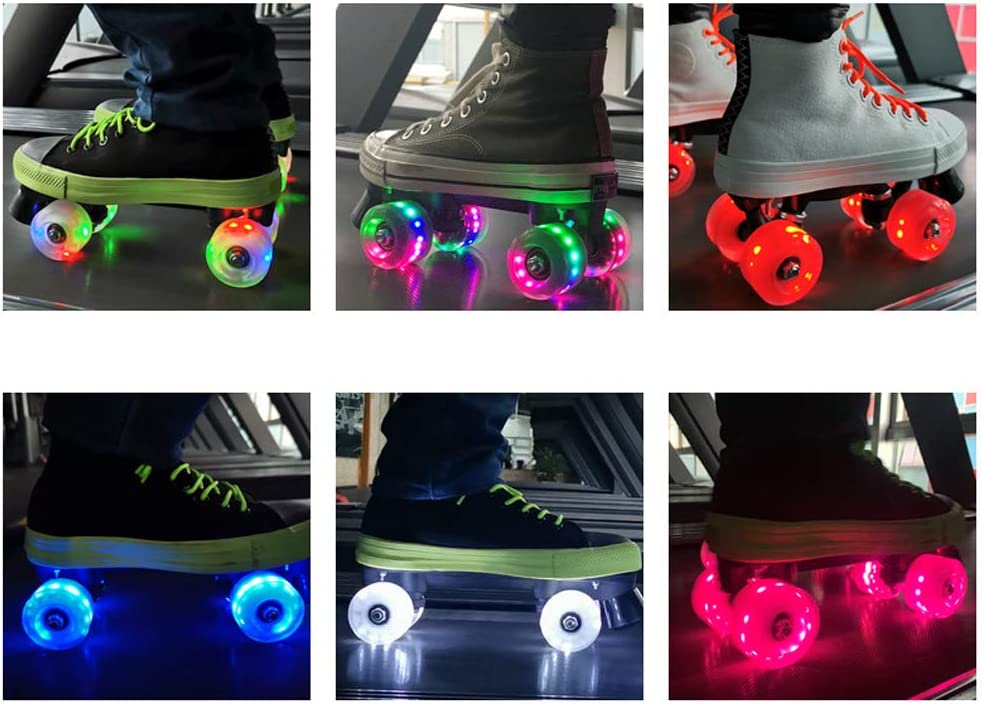 Details about  /4Pcs Roller Skate Wheels Luminous Light Up with Beas Outdoor Roller Skate WN7O2