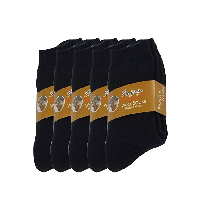 Pluto & Fox Calcetines Térmicas Gruesos Cálidos De Lana Borrego Para Hombre Color Liso Invierno Para