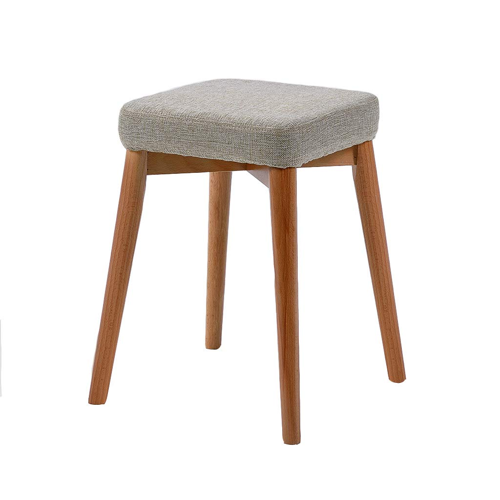 Small Stool, Solid Wood Material Shoe Bench Coffee Table Stool, Easy to disassemble and Carry Four Colors (Color : A)