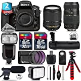 Holiday Saving Bundle for D810 DSLR Camera + 18-140mm VR Lens + Tamron 70-300mm Di LD Lens + Flash with LCD Display + Battery Grip + Shotgun Microphone + LED Kit - International Version