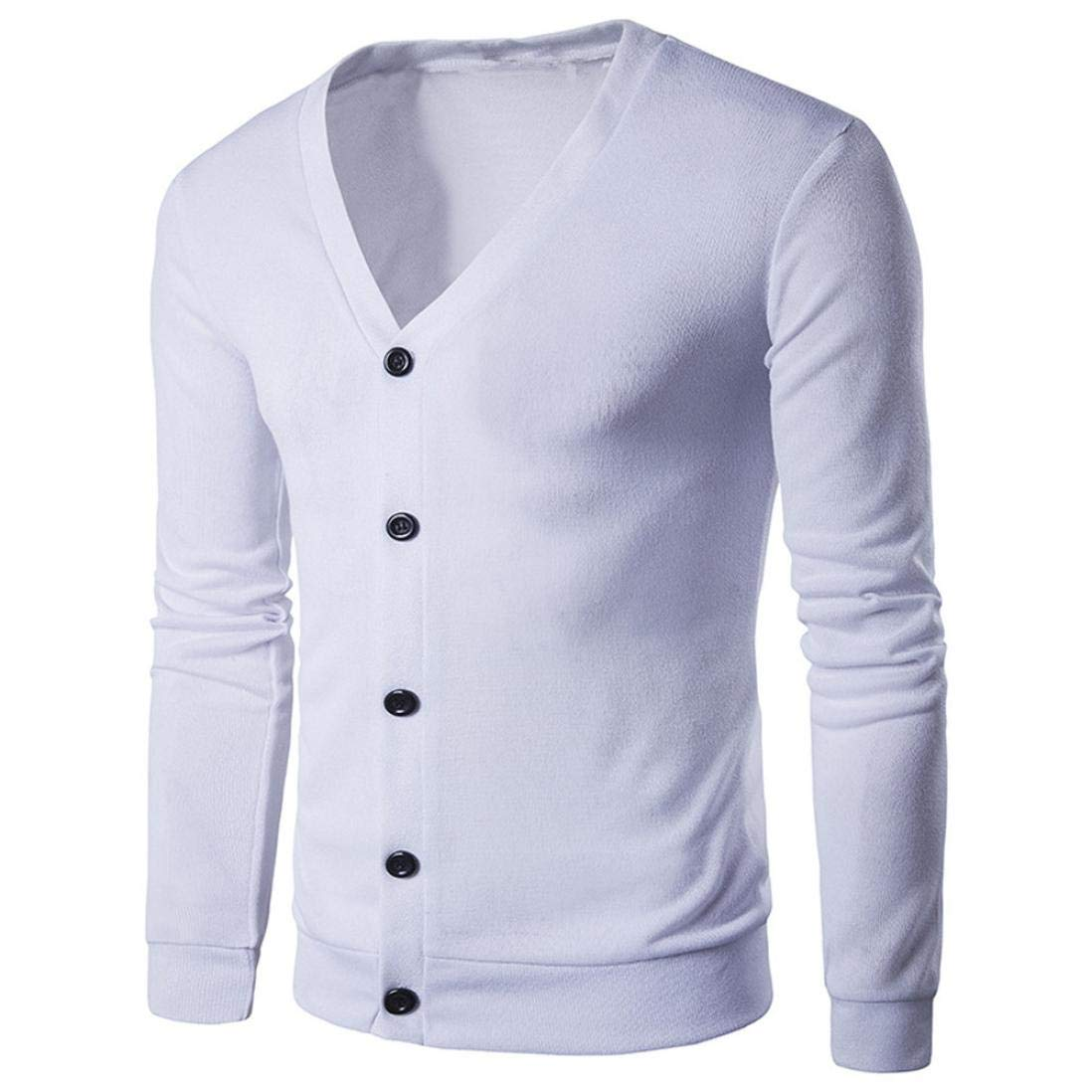 Sharemen V Neck Sweater Men's Button Point Knitted Slim Fit Cardigan 4669