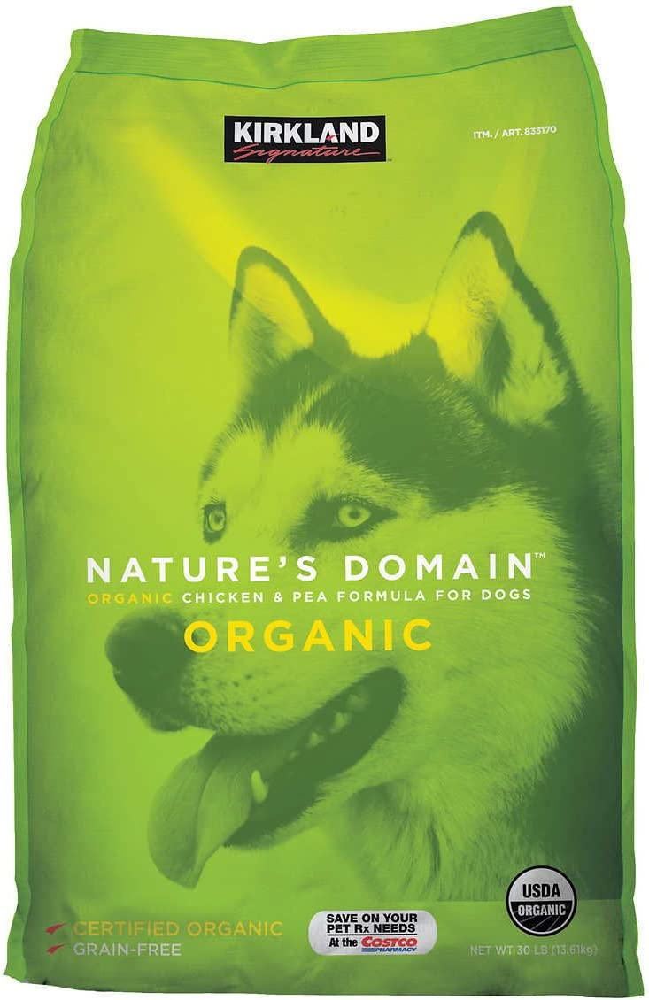 Kirkland Signature Nature's Domain Organic Chicken & Pea Dog Food 30 lb.