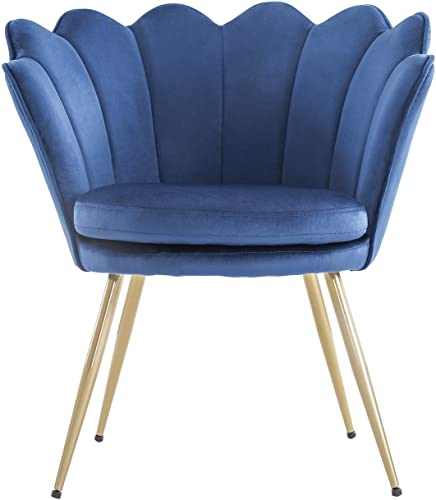Modern Accent Velvet Chairs Comfy Upholstered Vanity Chairs