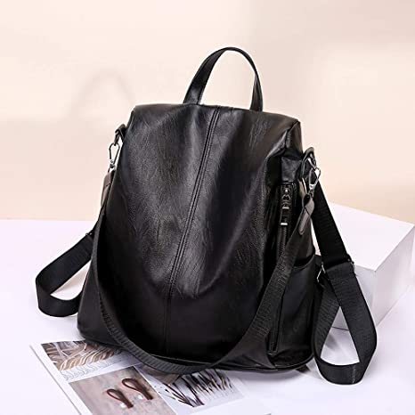 Amazon.com: Woman Girl Anti-Theft Backpack Bag Small Backpack,Outsta Casual Wild Soft Leather Dual-use Phone Bag Simple Bag (Black): Clothing