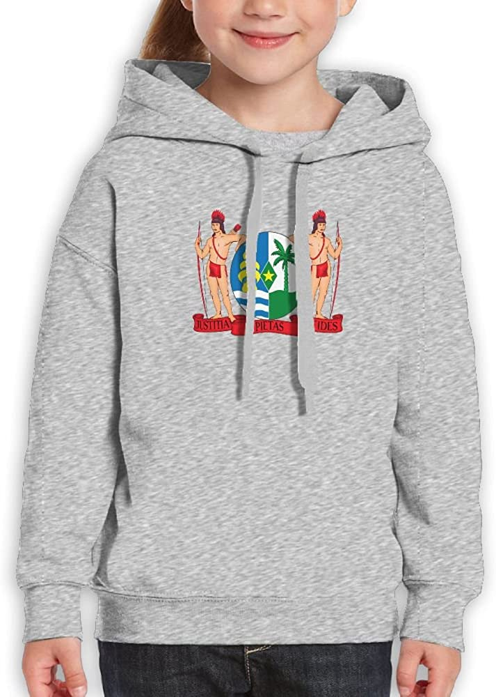 DTMN7 Coat Of Arms Of Suriname Cute Printed Crew Neck Pullover For Teens Spring Autumn Winter