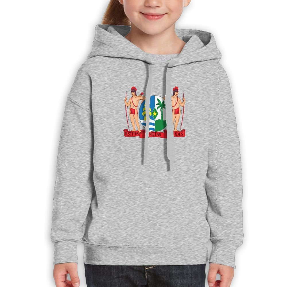DTMN7 Coat Of Arms Of Suriname Athletic Printed Long Sleeve Hoodie For Girl Spring Autumn Winter