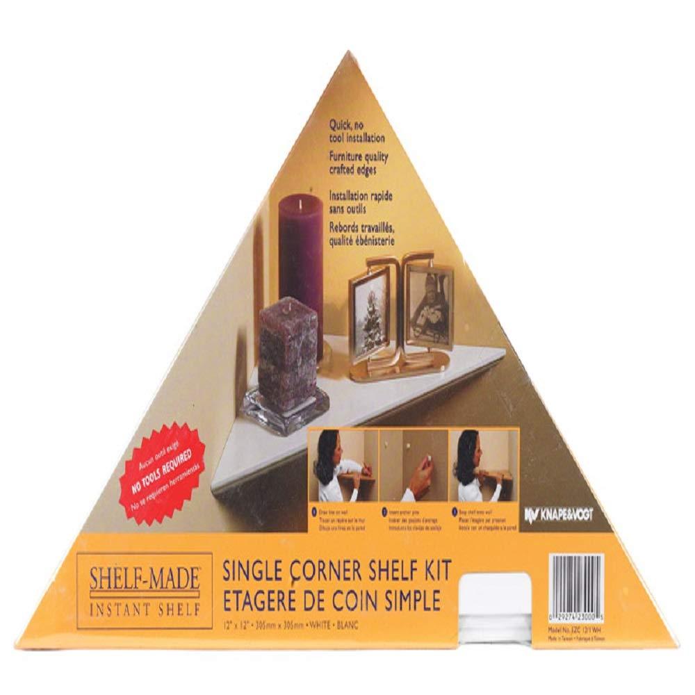 Instant Single Pack Corner Shelf Color White