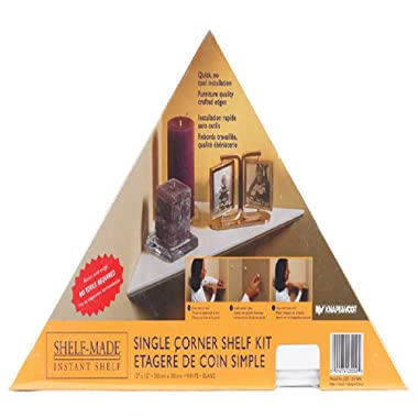 Knape & Vogt EZ12/1WH 12  White Instant Corner Shelves Single Pack