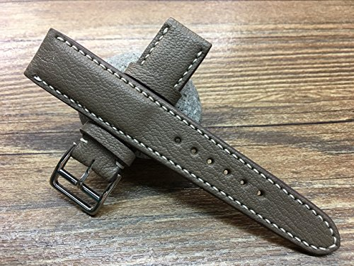 handmade-leather-watch-strap-20mm-elephant-grey-watch-band-leather-watch-band-vintage-leather-watch-