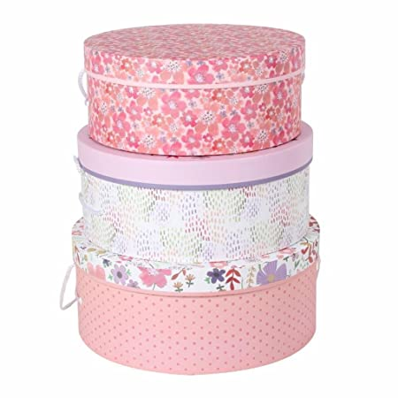 Tri Coastal Design Jenna Lynn Set Of 3 Round Hat Boxes Or Storage Boxes