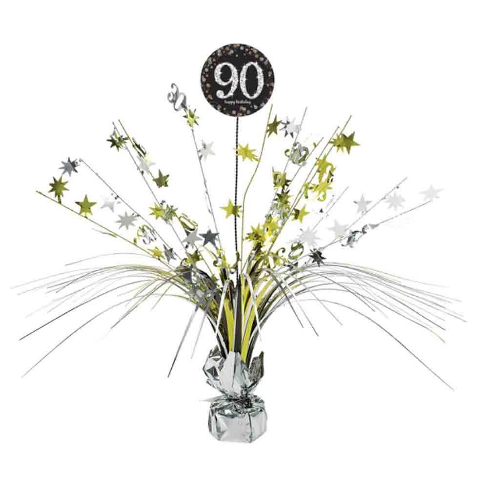 90th Birthday Spray Centrepiece Table Decoration | Age 90 Party Supplies amscan