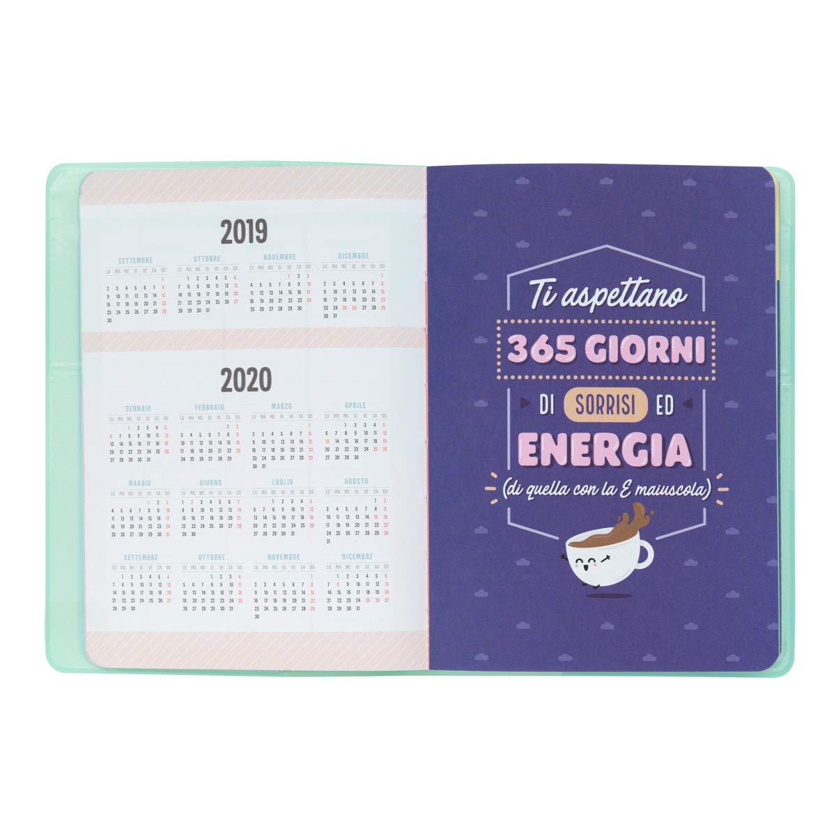 Mr. Wonderful - Agenda clásica pequeña semanal 2019-2020, 12 x 17,2 x 1,9 cm