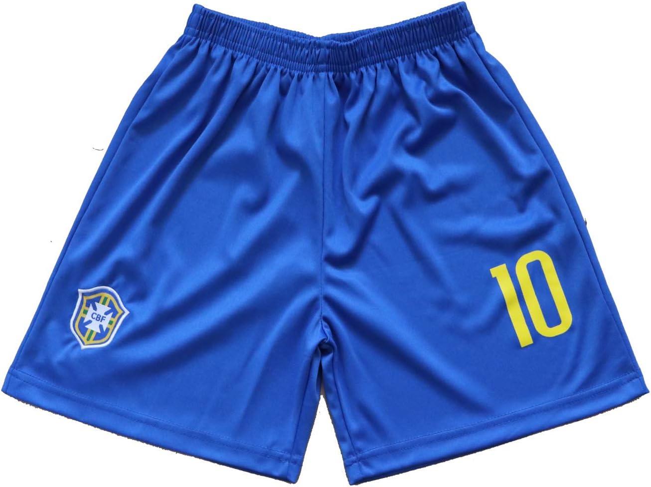 Br/ésil #10 Neymar Jr Maillot et Short de Football Domicile Ensemble pour Gar/çon Enfants