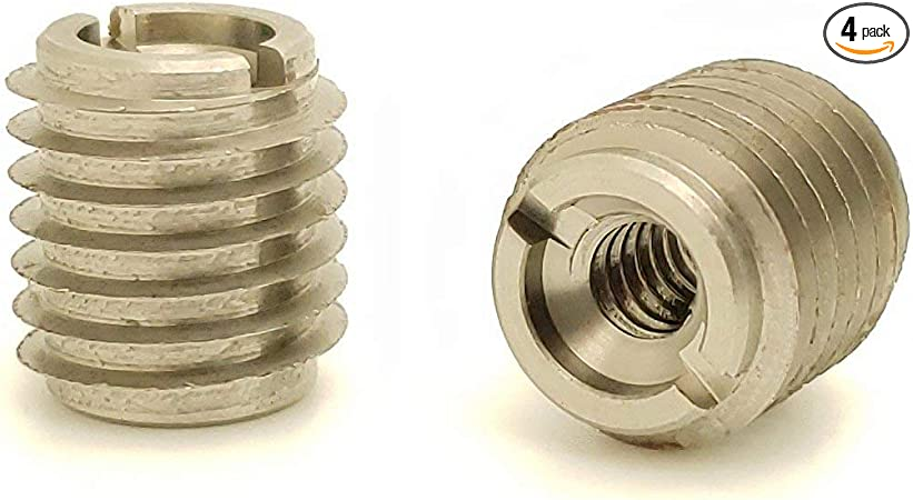 Fifty #8-32 Zinc Hex Flanged Threaded Inserts for Wood .394 Length SNG879 50 SNUG Fasteners