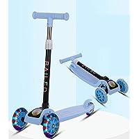 سكوتر فلاش ذو 3 عجلات القابل للطي للاطفال الاولاد والبنات مع عجلات قابلة للتعديل مصنوعة من البولي يوريثان من ليلي، هدية…