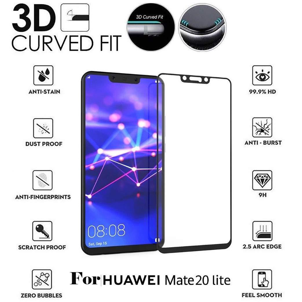 Cooljun Huawei Mate 20 Lite, Protecteur d'écran Full 3D en Verre trempé 9H Protecteur d'écran Full 3D en Verre trempé 9H