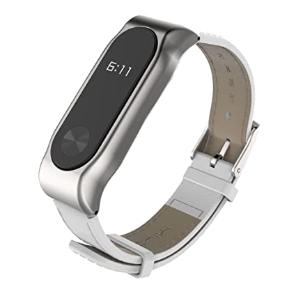 Original Mijobs Fitbit PU Leather Strap for Xiaomi Miband 2 Wrist Strap mi band 2 Smart
