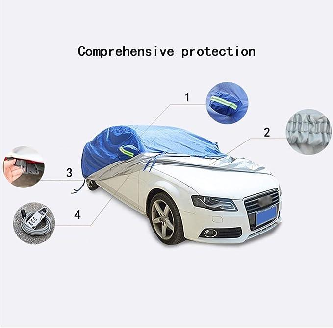 Couverture de voiture Peugeot 508 Couverture de voiture Sp/écial b/âche de voiture Couverture de voiture Protection contre la pluie /écran solaire /épaississant Couverture de voiture Couleur : Noir