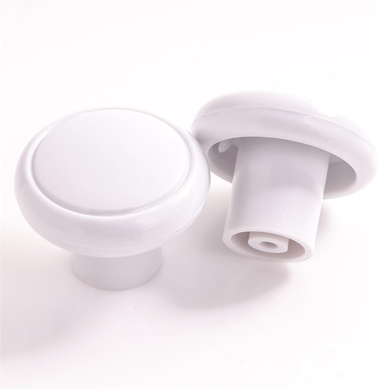 10x Small White Plastic Door Knobs