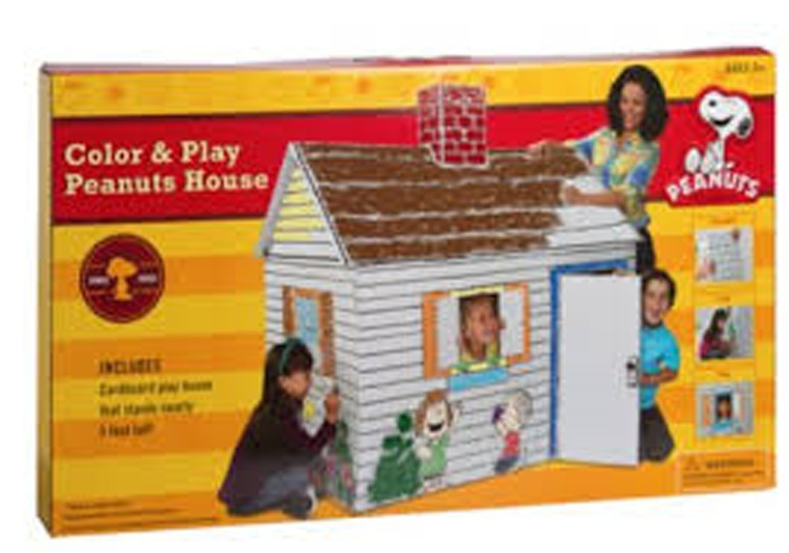 Charlie Brown Peanuts Eco Friendly Giant Cardboard Color and Play House