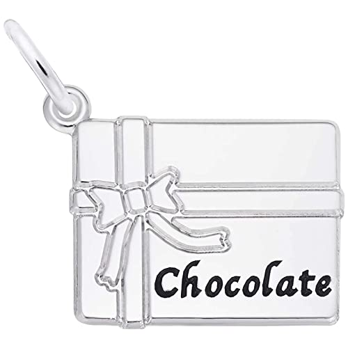 STERLING SILVER OPENING CHOCOLATE BOX CHARM