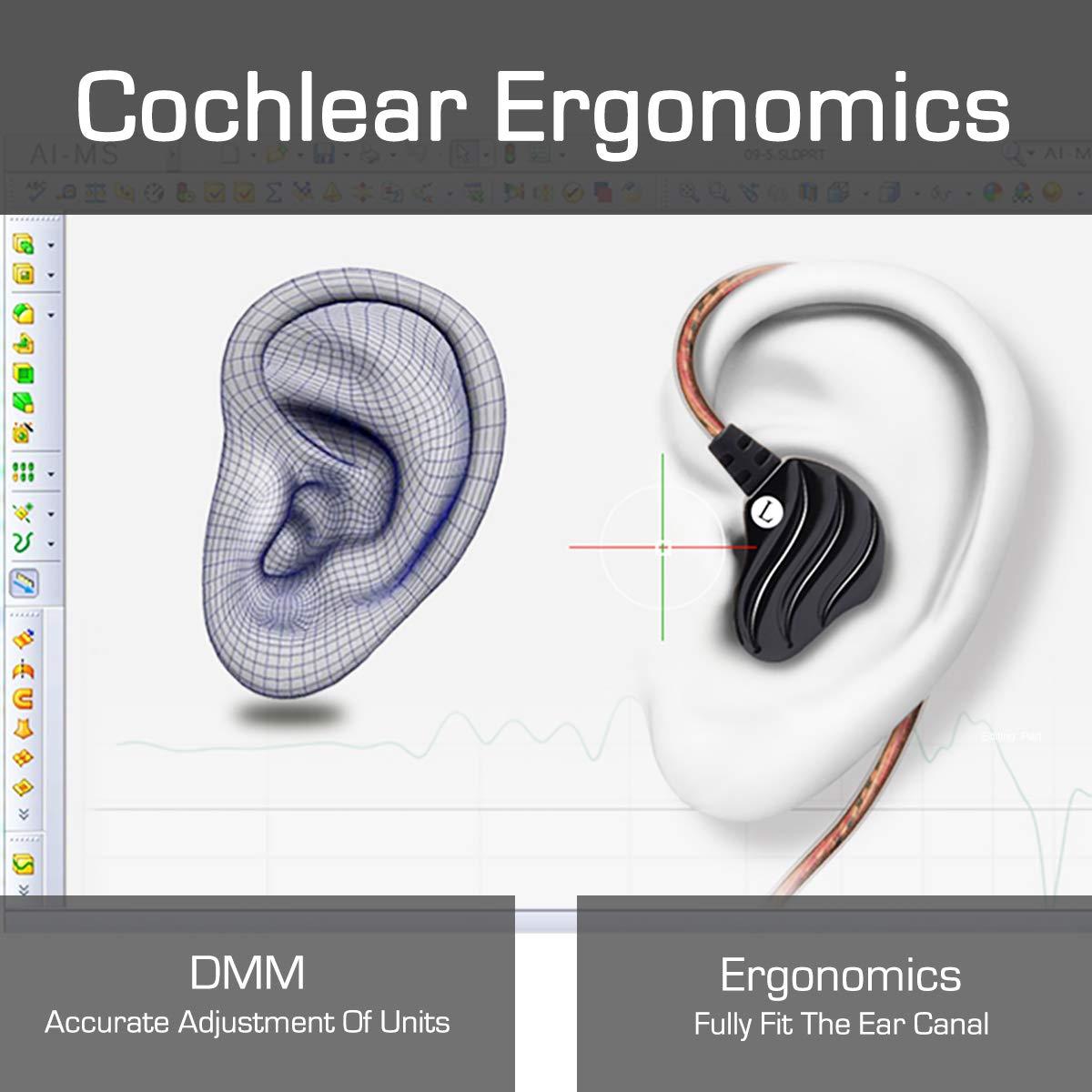 Cochlear 35mm Jack Wiring Diagram Archive Of Automotive Komatsu Pc75uu 1 Yianerm K 08 Hifi Noise Isolating In Ear Headphone Ergonomic Rh Amazon Co Uk