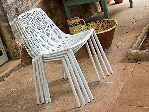 Forest Fast Stuhl in Aluminiumgu/ß Art 6501 Fabre Gold-Perlen