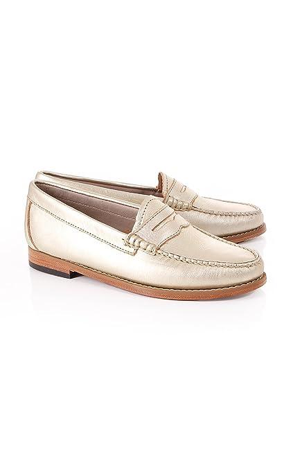 Bass Weejuns - Mocasines para mujer dorado dorado: Amazon.es: Zapatos y complementos