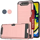 Compatible for Galaxy A80 Phone Case, Galaxy 90 Case, LDStars[Brushed Texture] TPU & PC Heavy Duty Shockproof Protective Phone Cover with Card Slots Holder Samsung Galaxy A80 A90