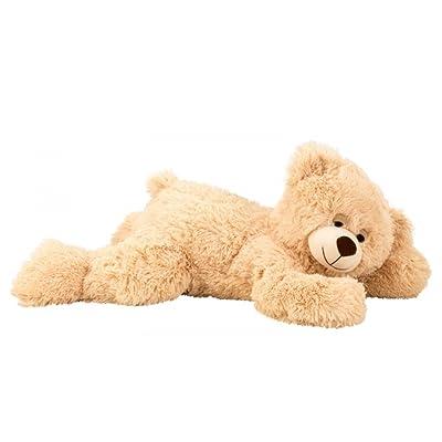 1733 oso de peluche tumbado 60 cm Color Marrón Claro Peluche: Juguetes y juegos
