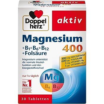 Doppelherz Magnesium 400 + B1 + B6 + B12 + Folsäure 30 pcs