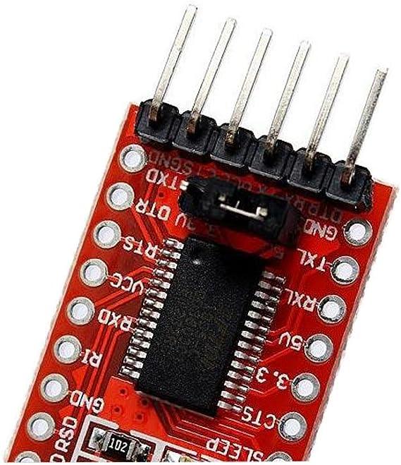 Xiuxin 4pcs 3.3V 5V FT232RL FTDI USB To TTL Serial Converter Adapter Module For Arduino