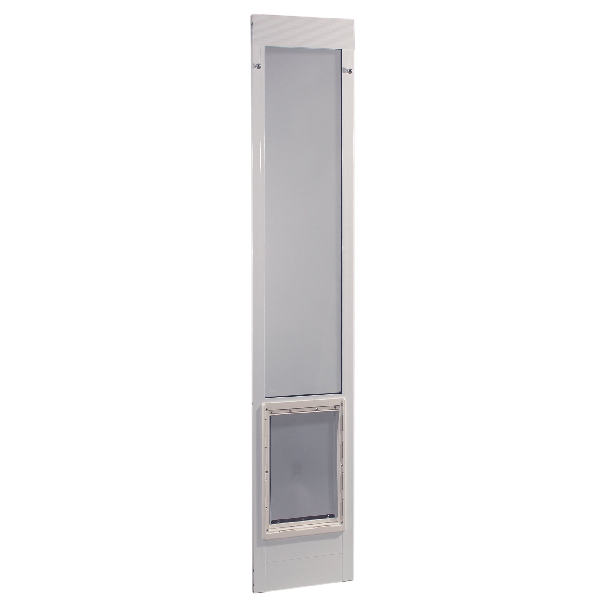 Ideal Pet Products 75PATSLW 75'' Fast Fit Aluminum Pet Patio Door, Super Large/15'' x 20'', White