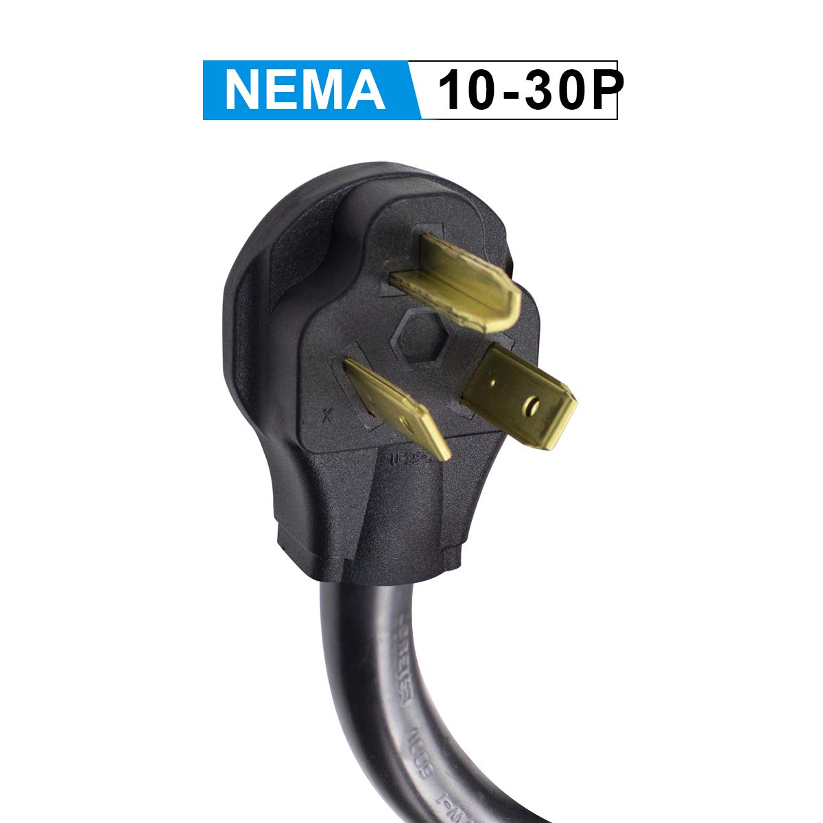 Morec NEMA10-30P to NEMA14-50R Adapter, Compatible with NEMA14-50 16 amp to 40 amp EV Charger, (3-Prong Dryer to Cars) by Morec (Image #3)