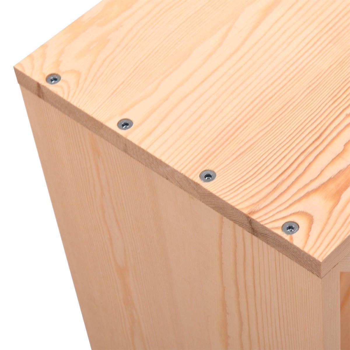 Tobbi Tabletop 24 Bottle Wine Rack Wood Stackable Storage Cube Display Shelves Kitchen