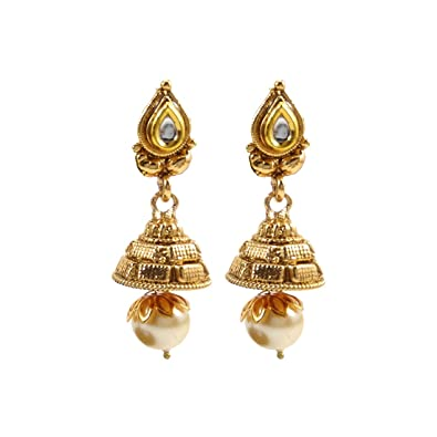 ee12ba949 Luxaim Stylish Designer Gold Plated Dangle Drop Earrings for Girls, Women,  Ladies with Dazzling