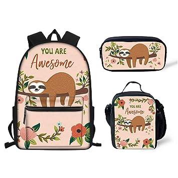 89b0527f9b88 Amazon.com | FOR U DESIGNS Cute Sloth Print Student Backpack Set ...