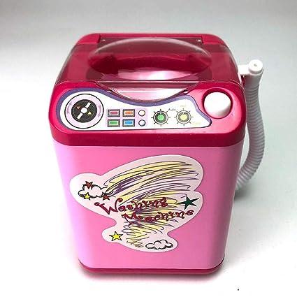 Mini niños Lavadora Juguete eléctrico Muebles de casa de muñecas ...
