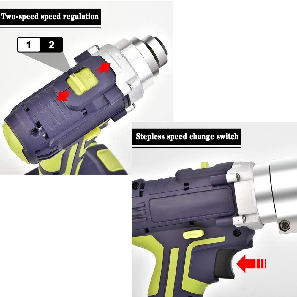 S SMAUTOP Cisaille /à t/ôle /électrique Sans Fil T/ête Pivotante 360/º avec 2 Batteries Rechargeables 25V 3 Ah Vitesse Variable Coupe-Ciseaux Automatique /à Usages Multiples pour le M/étal//Fer//Feuille//Tapis