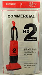 Commercial HD2 Vacuum Cleaner Bags