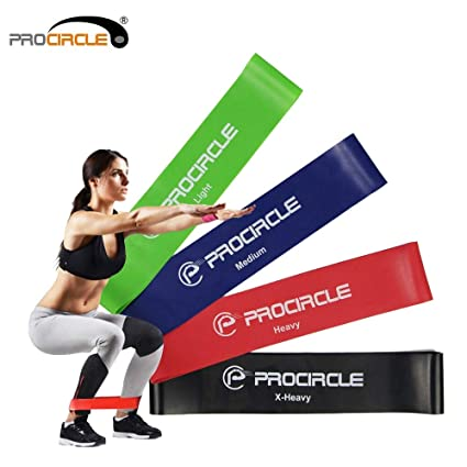 Amazon.com: CUSHY Procircle 4 PCS Resistance Loop Bands Set Exercise Fitness Band for Physical Therapy/Pilates/Strength Training Workout: Sports & Outdoors
