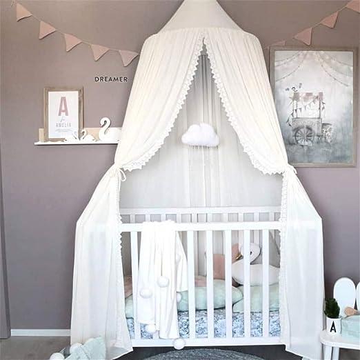 Hava Kolari Betthimmel f/ür Kinder,Baby Baldachin,Prinzessin Chiffon h/ängende Moskitonnetz f/ür Schlafzimmer Dekoration f/ür Bett und Schlafzimmer grau