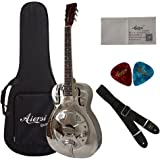 Silver Finish Hawaii Tree Pattern Style O Brass Body Electrical Resonator Guitar