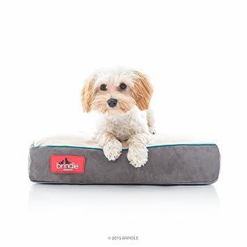 Brindle Cama de Perro de Espuma de Memoria Suave con Cubierta Desprendible Lavable Khaki 17in x 11in: Amazon.es: Productos para mascotas