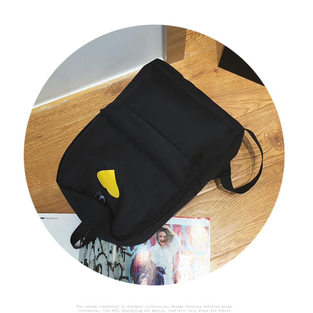 Travel Backpack ,Creazy Women Girl Fashion Love Print Preppy Style School Bag Travel Backpack Bag+Wallet (Black) by Creazydog (Image #5)