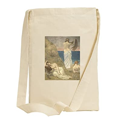 Young Girls By Seaside (Puvis Chavannes) Canvas Sling Tote Bag