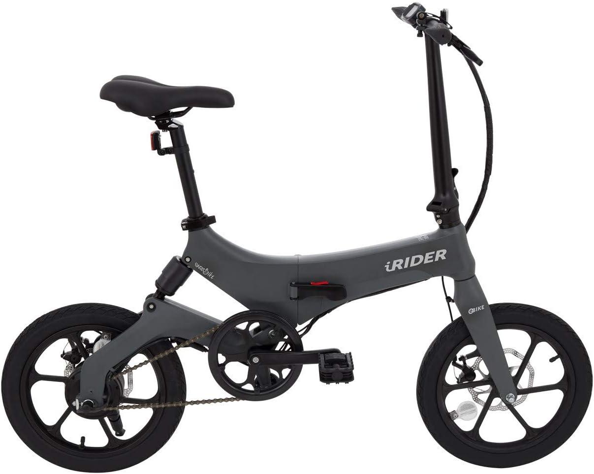 IWATMOTION Bicicleta Eléctrica Plegable iRider Gris (Gris): Amazon ...